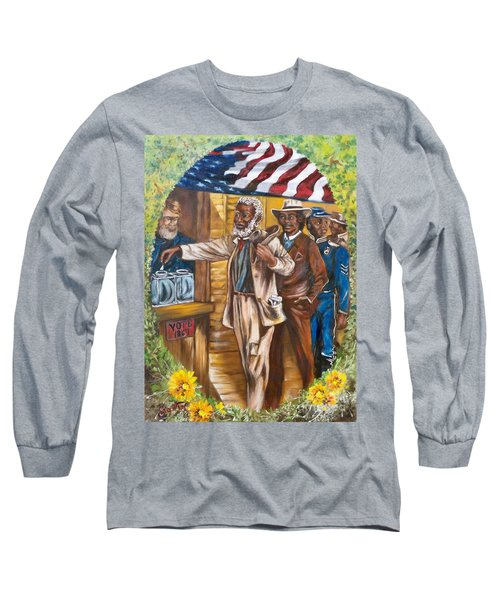 Long Sleeve T-Shirt featuring the painting The First Vote - 1867 by Sigrid Tune
