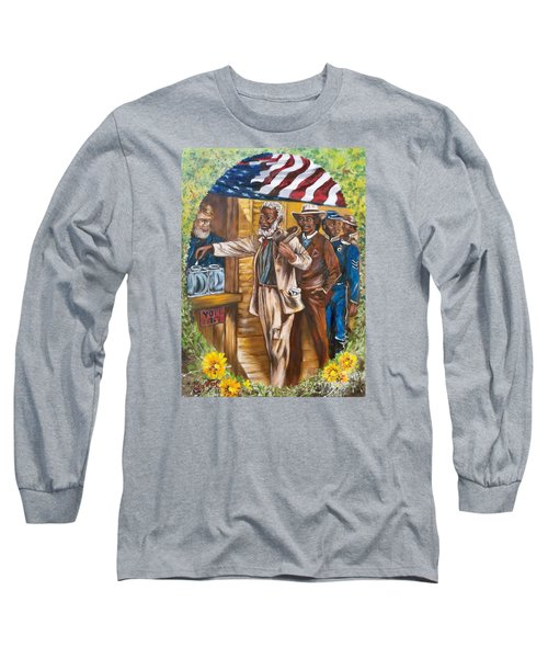 Historical  Artwork     First Vote - 1867 Long Sleeve T-Shirt