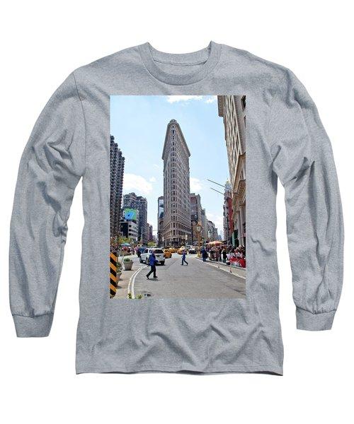 The Flatiron Building Long Sleeve T-Shirt by Jean Haynes