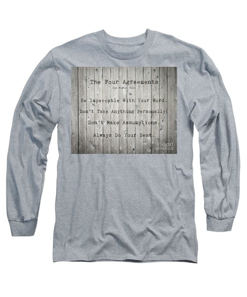 The Four Agreements 12 Long Sleeve T-Shirt