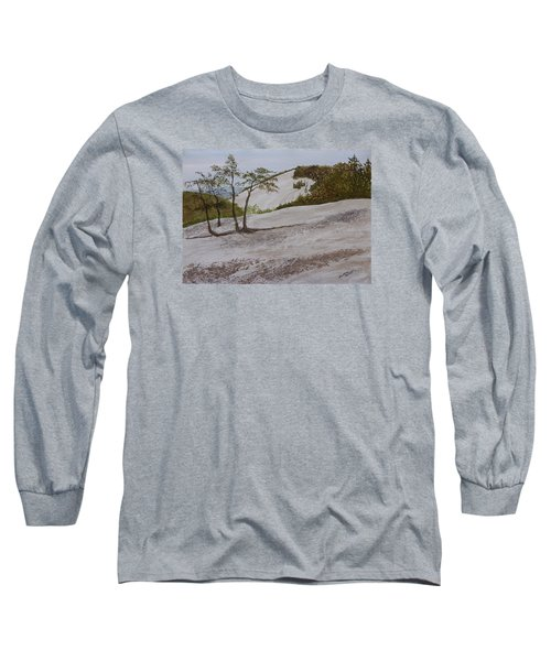 The Four Sisters At Stone Mountain Long Sleeve T-Shirt by Joel Deutsch