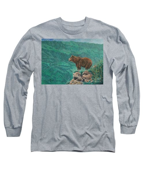 The Franklin Grizzly Bear Long Sleeve T-Shirt