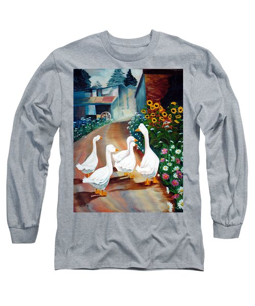 The Gaggle Long Sleeve T-Shirt by Renate Nadi Wesley