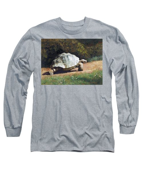 The Giant Tortoise Is Walking Long Sleeve T-Shirt