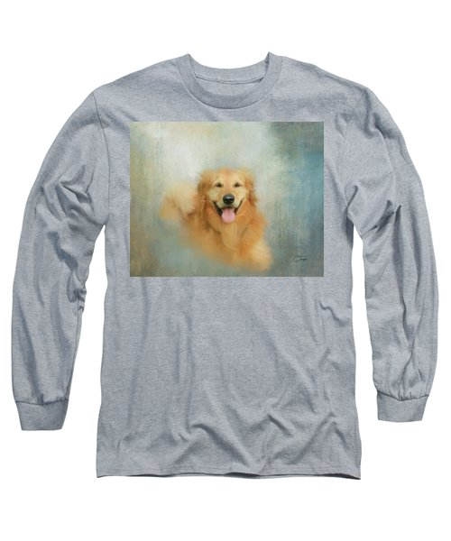 Long Sleeve T-Shirt featuring the mixed media The Golden by Colleen Taylor