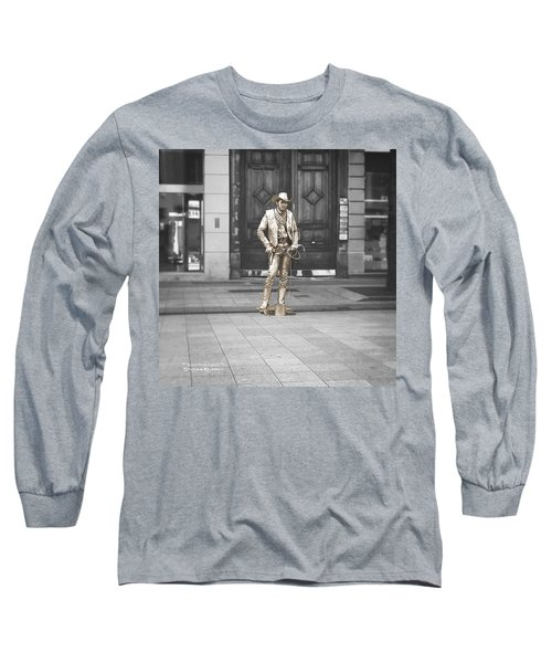 Long Sleeve T-Shirt featuring the photograph The Golden Cowboy by Stwayne Keubrick