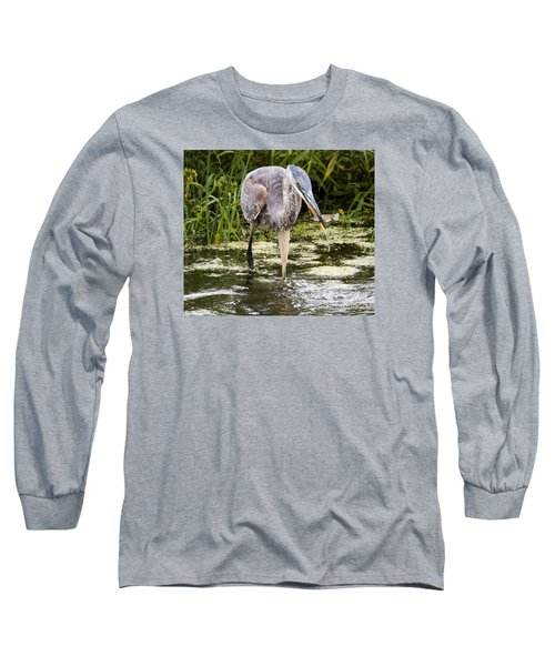Long Sleeve T-Shirt featuring the photograph The Great Blue Heron by Ricky L Jones