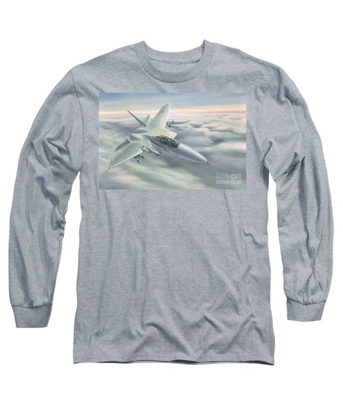 Long Sleeve T-Shirt featuring the painting The Grey Ghost by Michael Swanson