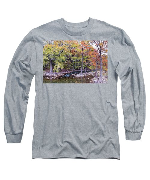 The Guadalupe River As It Makes Its Way Through Gruene - New Braunfels - Texas Hill Country Long Sleeve T-Shirt