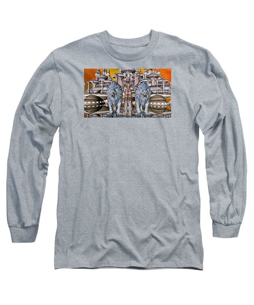 The Guardians Of The City Long Sleeve T-Shirt by Louis Ferreira