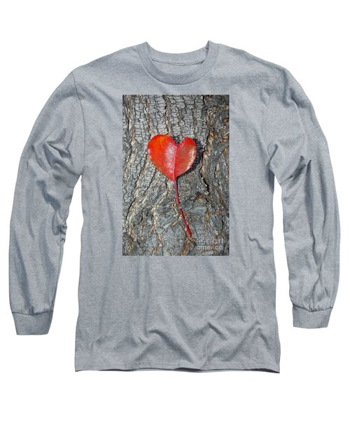 The Heart Of A Tree Long Sleeve T-Shirt by Debra Thompson