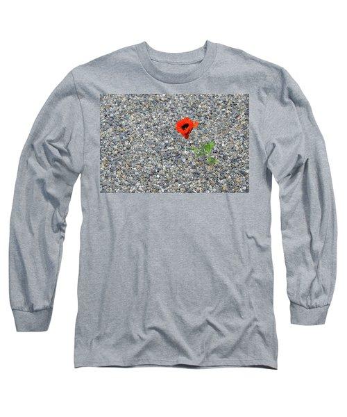 The Hopeful Poppy Long Sleeve T-Shirt by Michael Bessler