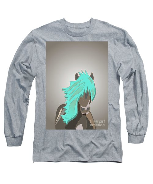 The Horse With The Turquoise Mane Long Sleeve T-Shirt