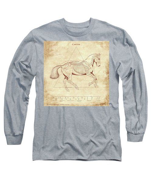 The Horse's Canter Revealed Long Sleeve T-Shirt by Catherine Twomey