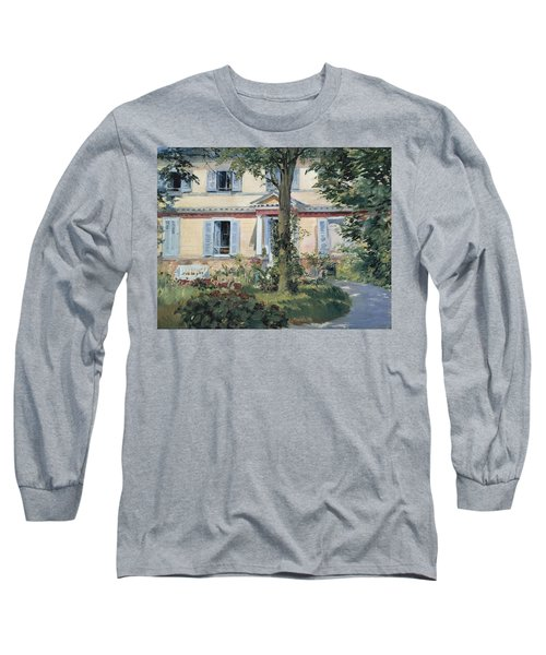 The House At Rueil 1882 Long Sleeve T-Shirt
