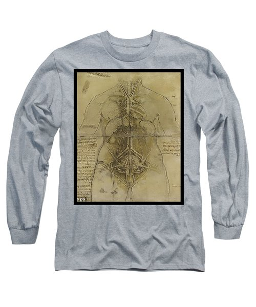 Long Sleeve T-Shirt featuring the painting The Human Organ System by James Christopher Hill
