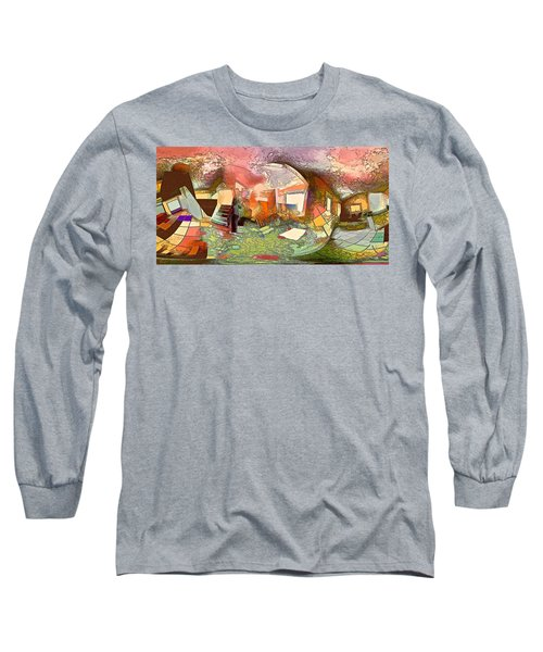 Space Geometry #14 Or The Inner Content Long Sleeve T-Shirt