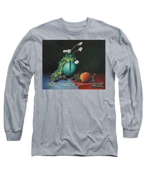 The Jade Vase And Jasmine Long Sleeve T-Shirt