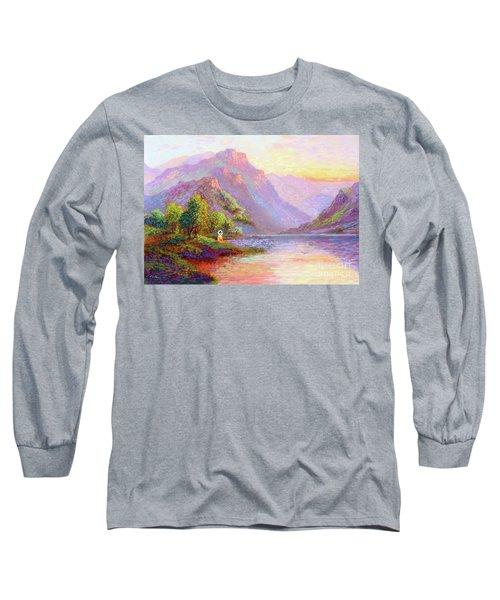 The Joy Of Being Buddha Meditation Long Sleeve T-Shirt