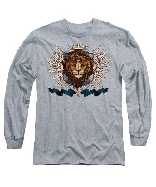 The King's Heraldry II Long Sleeve T-Shirt by April Moen