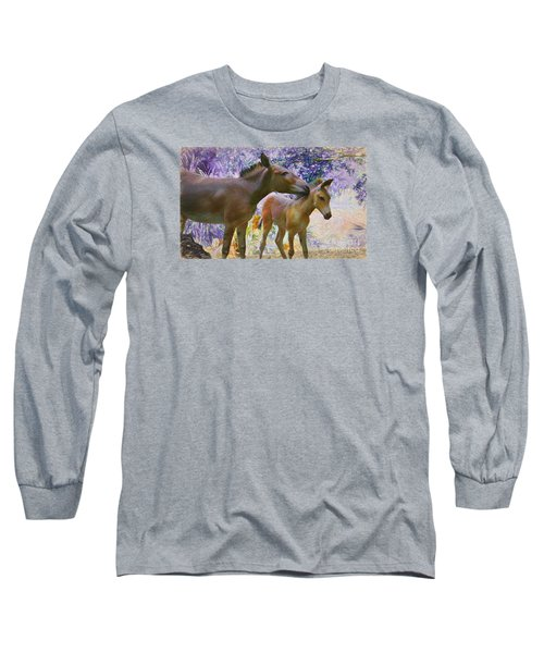 Long Sleeve T-Shirt featuring the painting The Kiss Edition 2 by Judy Kay