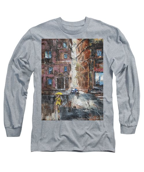 The Lady In Yellow Long Sleeve T-Shirt