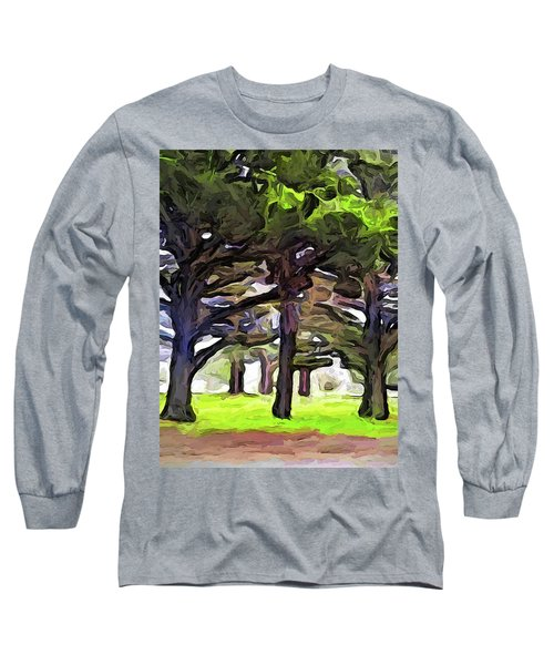 The Landscape With The Leaning Trees Long Sleeve T-Shirt