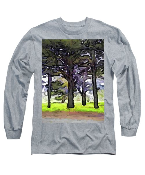 The Landscape With The Trees In A Row Long Sleeve T-Shirt