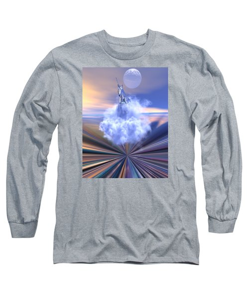 Long Sleeve T-Shirt featuring the digital art The Last Of The Unicorns by Claude McCoy