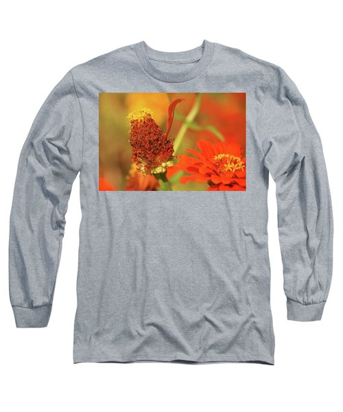 Long Sleeve T-Shirt featuring the photograph The Last Petal by Donna G Smith