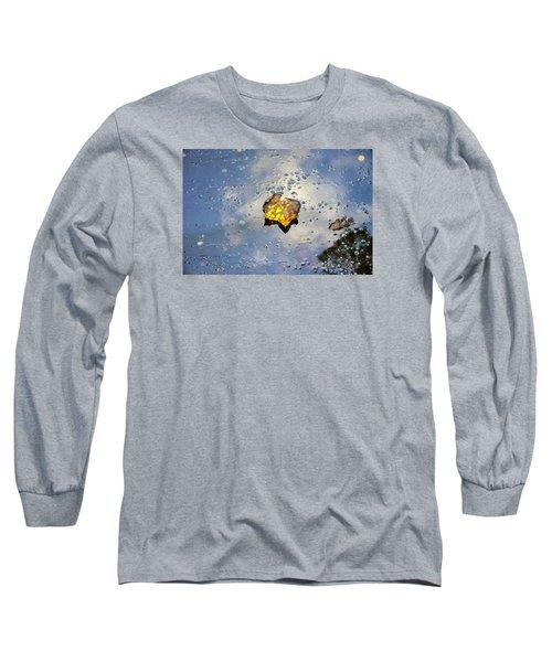 The Leaf And Liquid Sky Long Sleeve T-Shirt by Allen Carroll