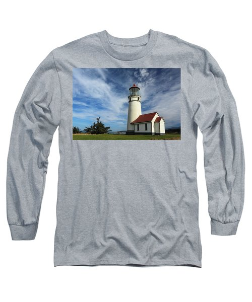 The Lighthouse At Cape Blanco Long Sleeve T-Shirt