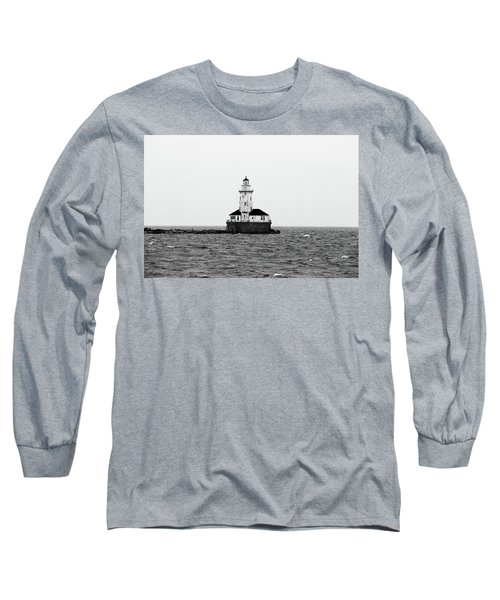 The Lighthouse Black And White Long Sleeve T-Shirt