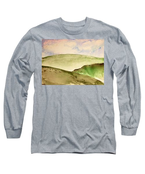 Long Sleeve T-Shirt featuring the painting The Little Hills Rejoice by Antonio Romero