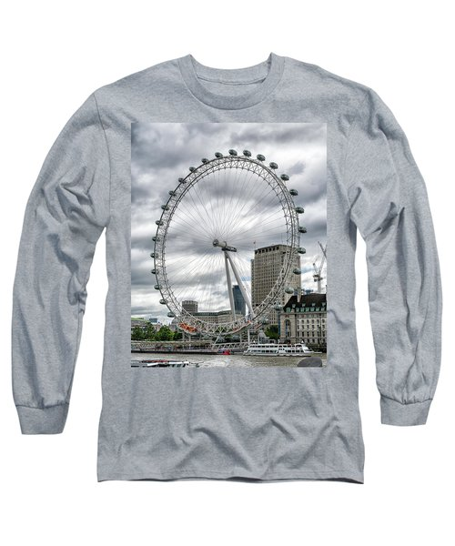 Long Sleeve T-Shirt featuring the photograph The London Eye by Alan Toepfer