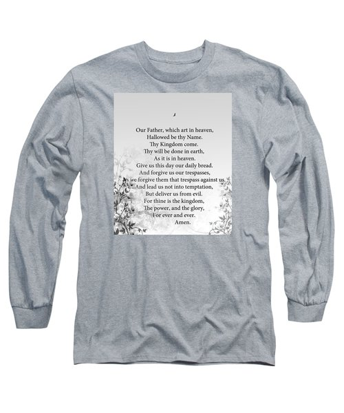 The Lord's Prayer Long Sleeve T-Shirt by Trilby Cole
