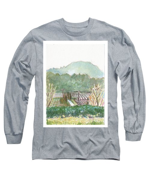 Long Sleeve T-Shirt featuring the painting The Luberon Valley by Tilly Strauss