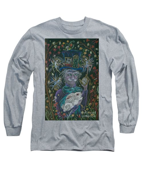 The Maddening Hatter Long Sleeve T-Shirt by Dawn Fairies