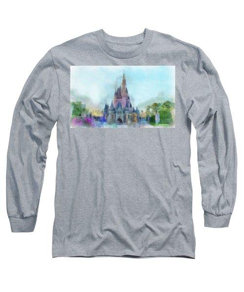 The Magic Kingdom Castle Wdw 05 Photo Art Long Sleeve T-Shirt