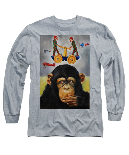 The Magnificent Flying Strauss Long Sleeve T-Shirt by Jean Cormier