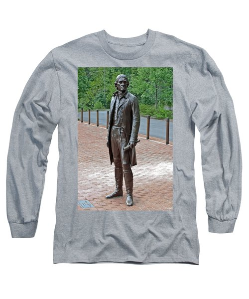 The Man Behind Monticello Long Sleeve T-Shirt by DigiArt Diaries by Vicky B Fuller