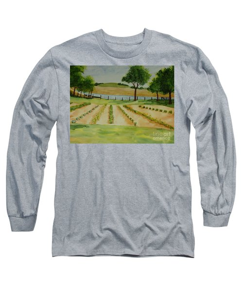 Long Sleeve T-Shirt featuring the painting The Mangan Farm  by Vicki  Housel