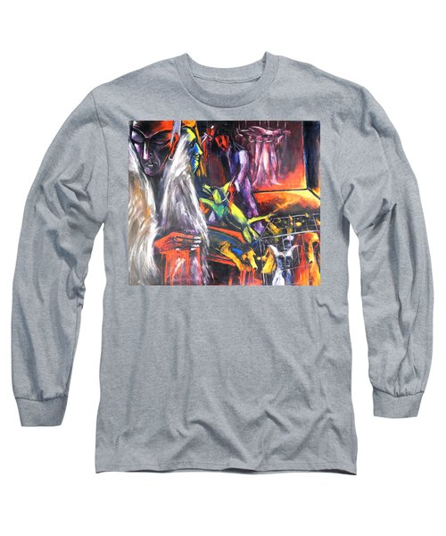 The Mass Process Of Meaningless Animal Slaughter Long Sleeve T-Shirt by Kenneth Agnello