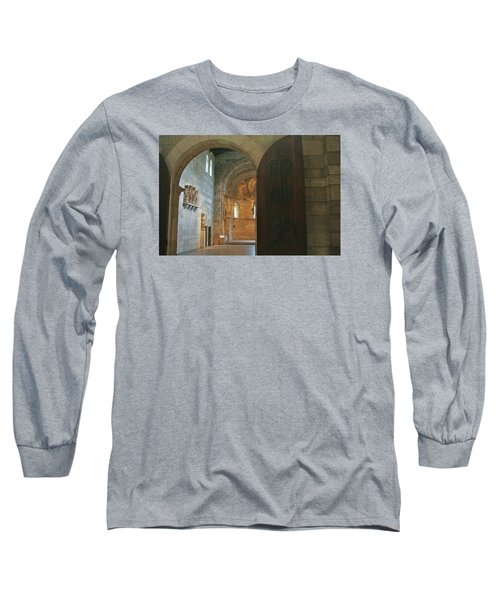 An Early Morning At The Medieval Abbey Long Sleeve T-Shirt by Yvonne Wright