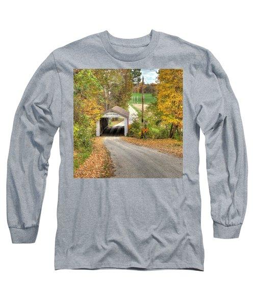 The Melcher Covered Bridge Long Sleeve T-Shirt