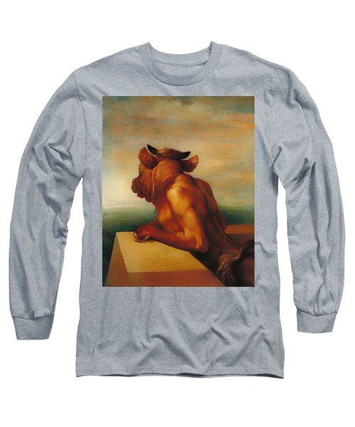 The Minotaur  Long Sleeve T-Shirt by Mountain Dreams