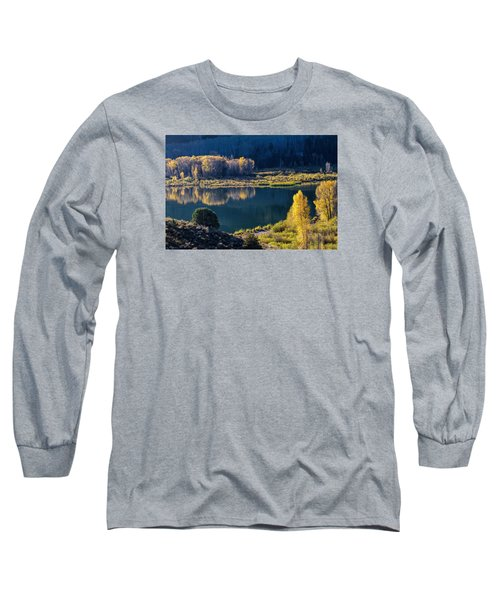The Mirror In Her Hand Long Sleeve T-Shirt by Alana Thrower