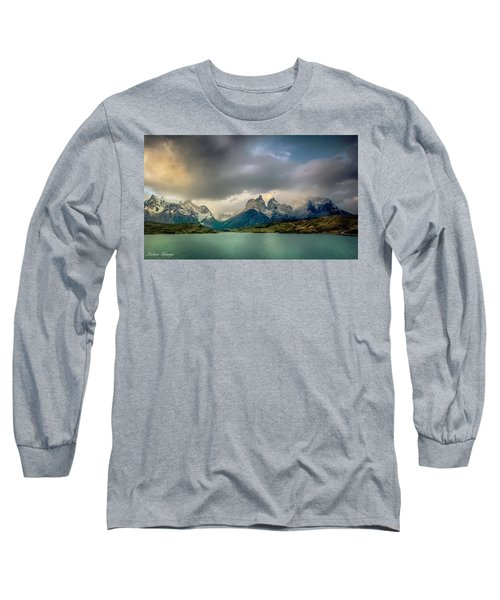 Long Sleeve T-Shirt featuring the photograph The Mountains On The Lake by Andrew Matwijec