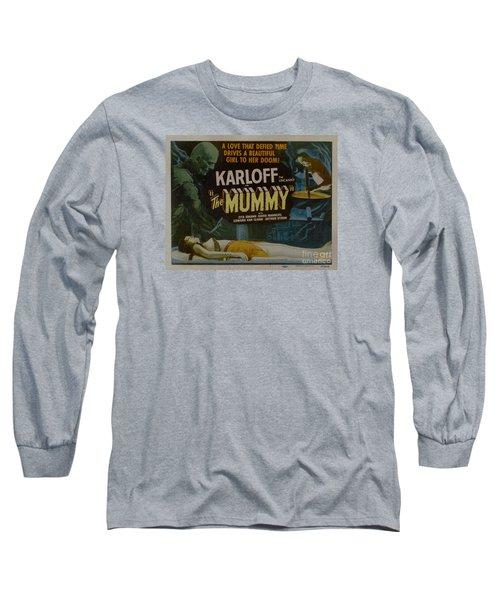 The Mummy 1929 Poster Boris Karloff Long Sleeve T-Shirt
