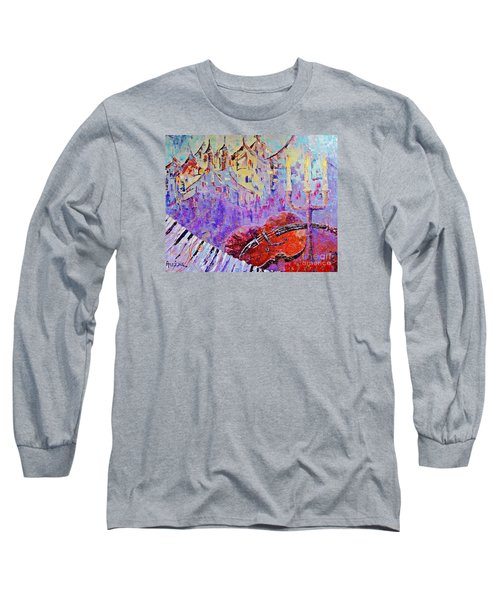 The Music Of The Silence Long Sleeve T-Shirt by AmaS Art